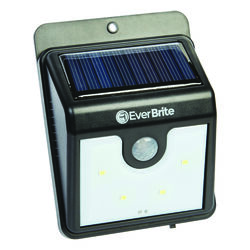 Ever Brite As Seen on TV Motion-Sensing Solar Powered LED Black Security Light