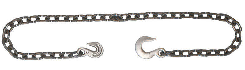 Campbell Chain  3/8 in. Single Jack  Carbon Steel  Log Chain Assembly  Gray  3/8 in. Dia. x 14 ft. L