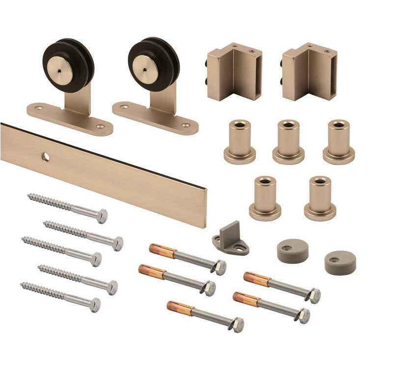 Prime-Line  Satin Nickel  Steel  Barn Door Hanger Kit  1 pk