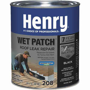 Henry  Smooth  Black  Wet patch  Plastic Roof Cement  30 oz.