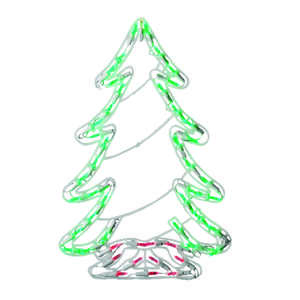 Celebrations  LED Tree  Silhouette  Plastic  1 each White
