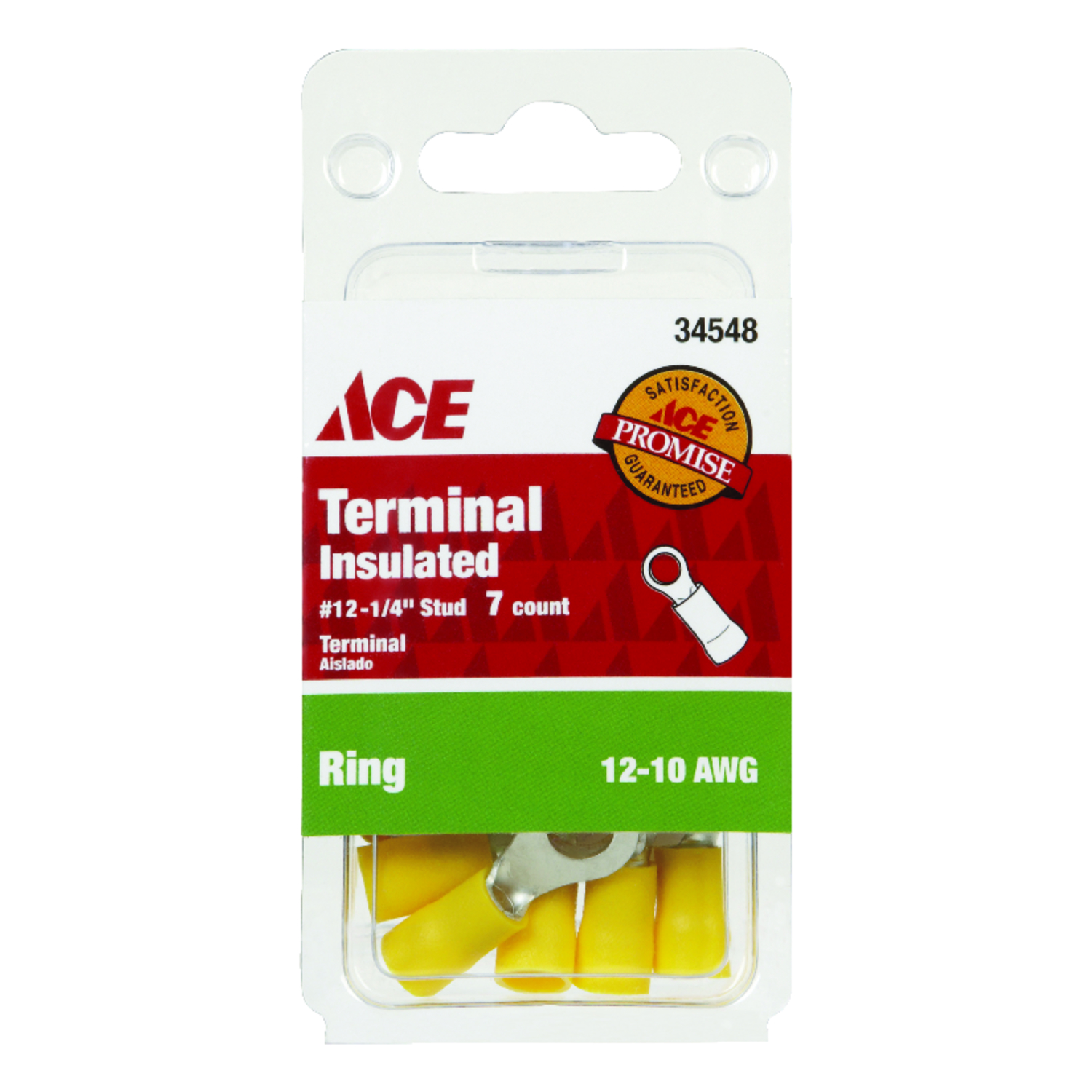 Ace  Insulated Wire  12-10 AWG 7  Ring Terminal