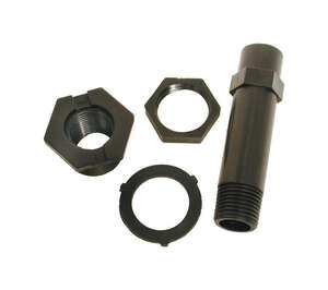 Dial  1-1/4 in. H x 4-3/4 in. W Nylon  Black  Drain and Pipe Kit