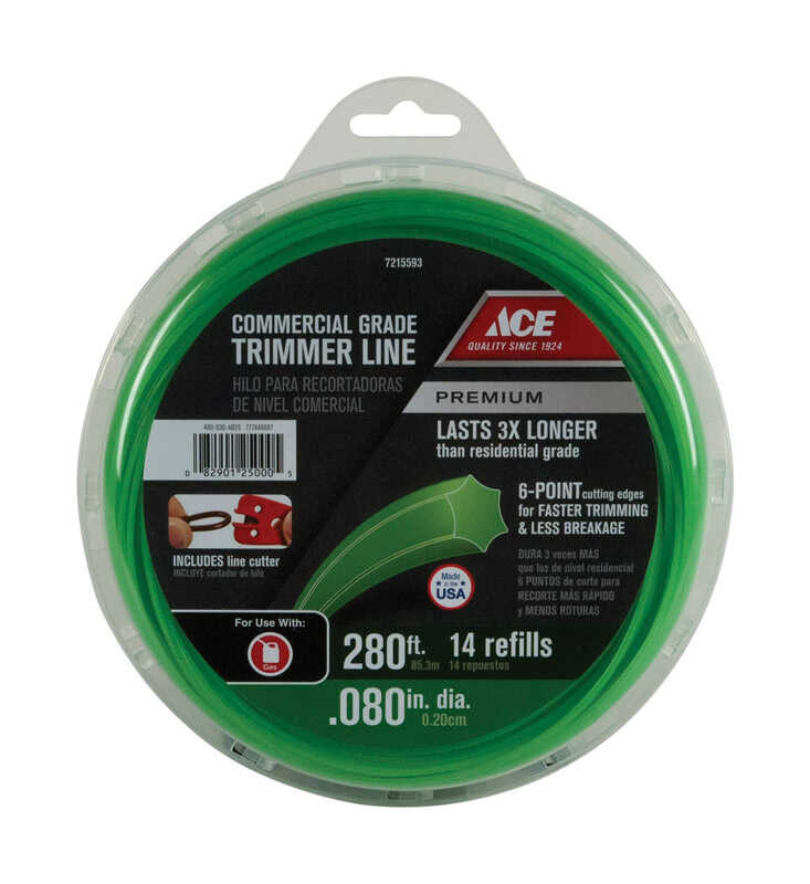 Ace  Commercial Grade  0.080 in. Dia. Trimmer Line