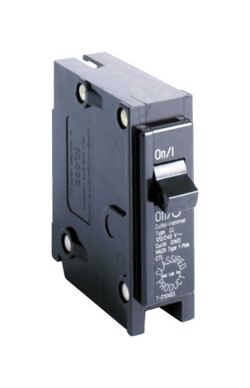 Eaton  Cutler-Hammer  15 amps Plug In  Single Pole  Circuit Breaker