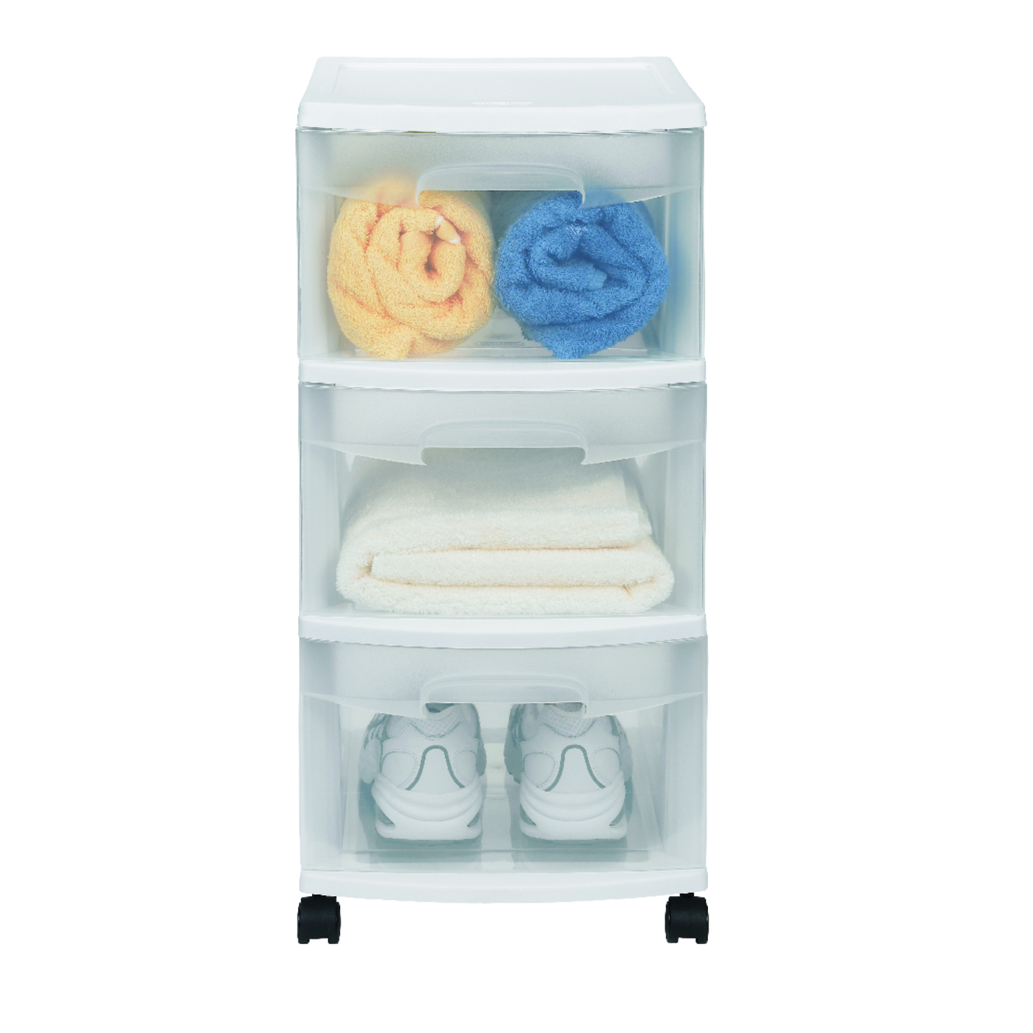 Sterilite 24 in. H x 12.625 in. W x 14.5 in. D Stackable Drawer ...