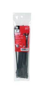 Gardner Bender  8 in. L Black  Cable Tie  25 pk