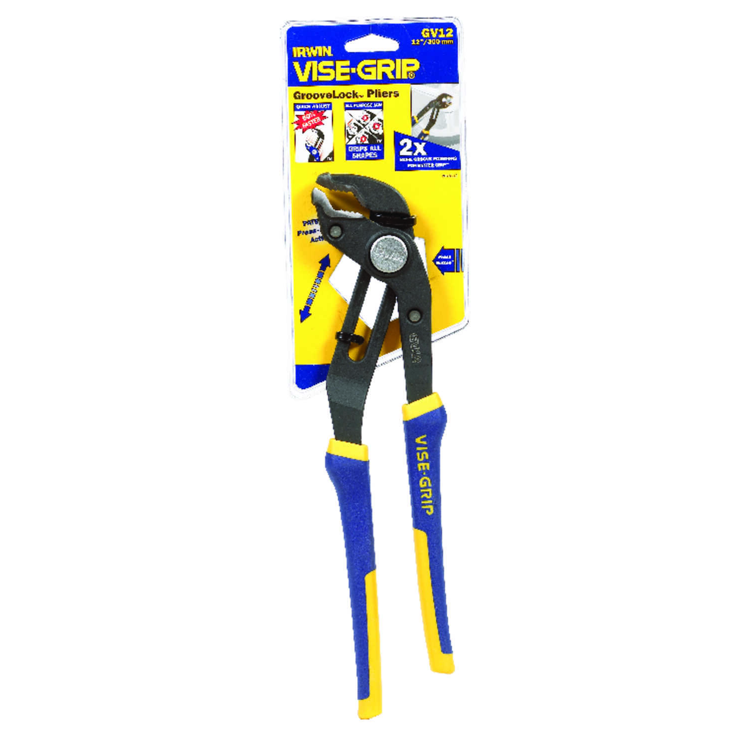 Irwin  Vise-Grip  12 in. Alloy Steel  Tongue and Groove Pliers  Blue/Yellow  1 pk