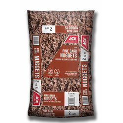 Ace  Brown  Pine Bark  Decorative Soil Cover  2 cu. ft.