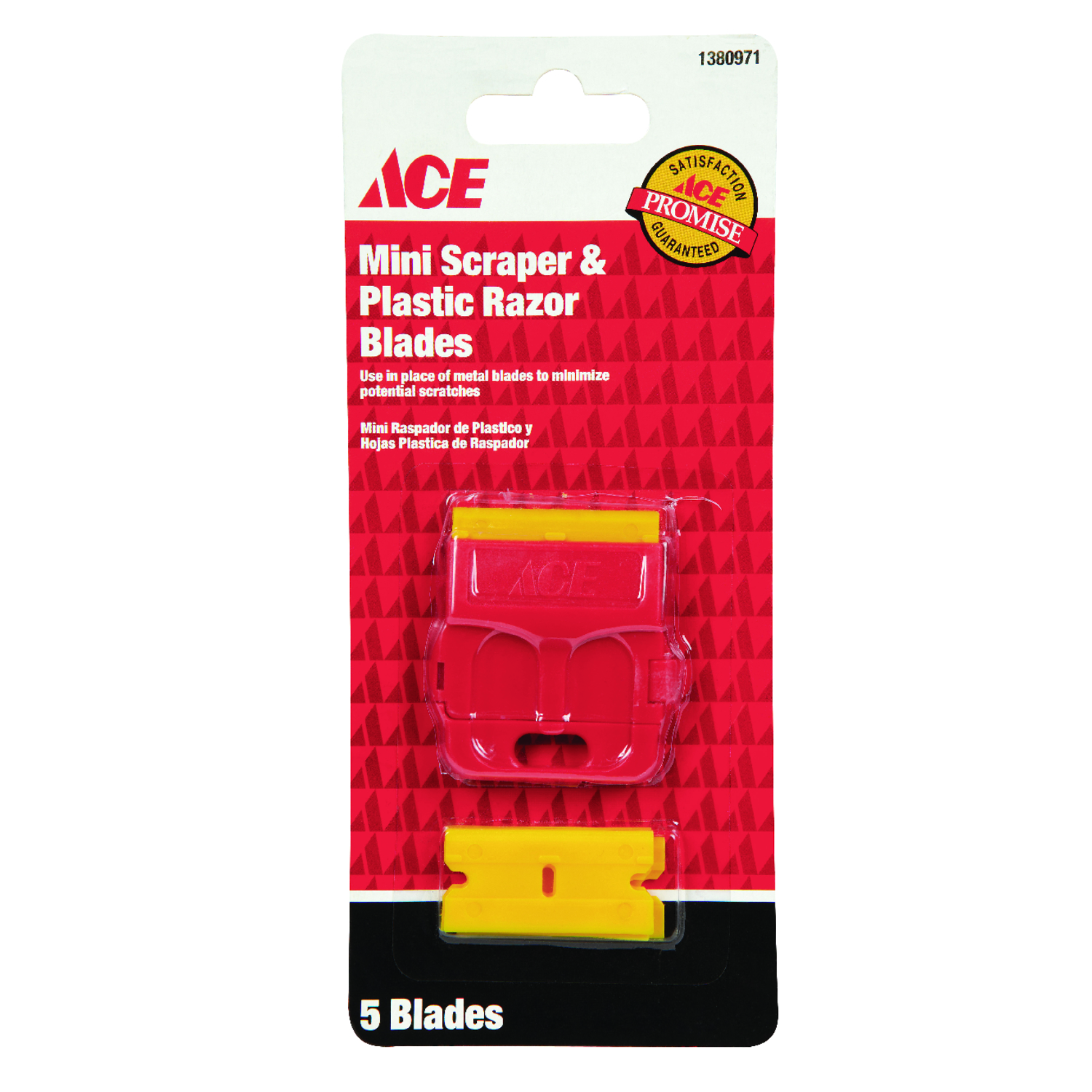 Ace  0.01 in. W Plastic  Double Edge  Scraper