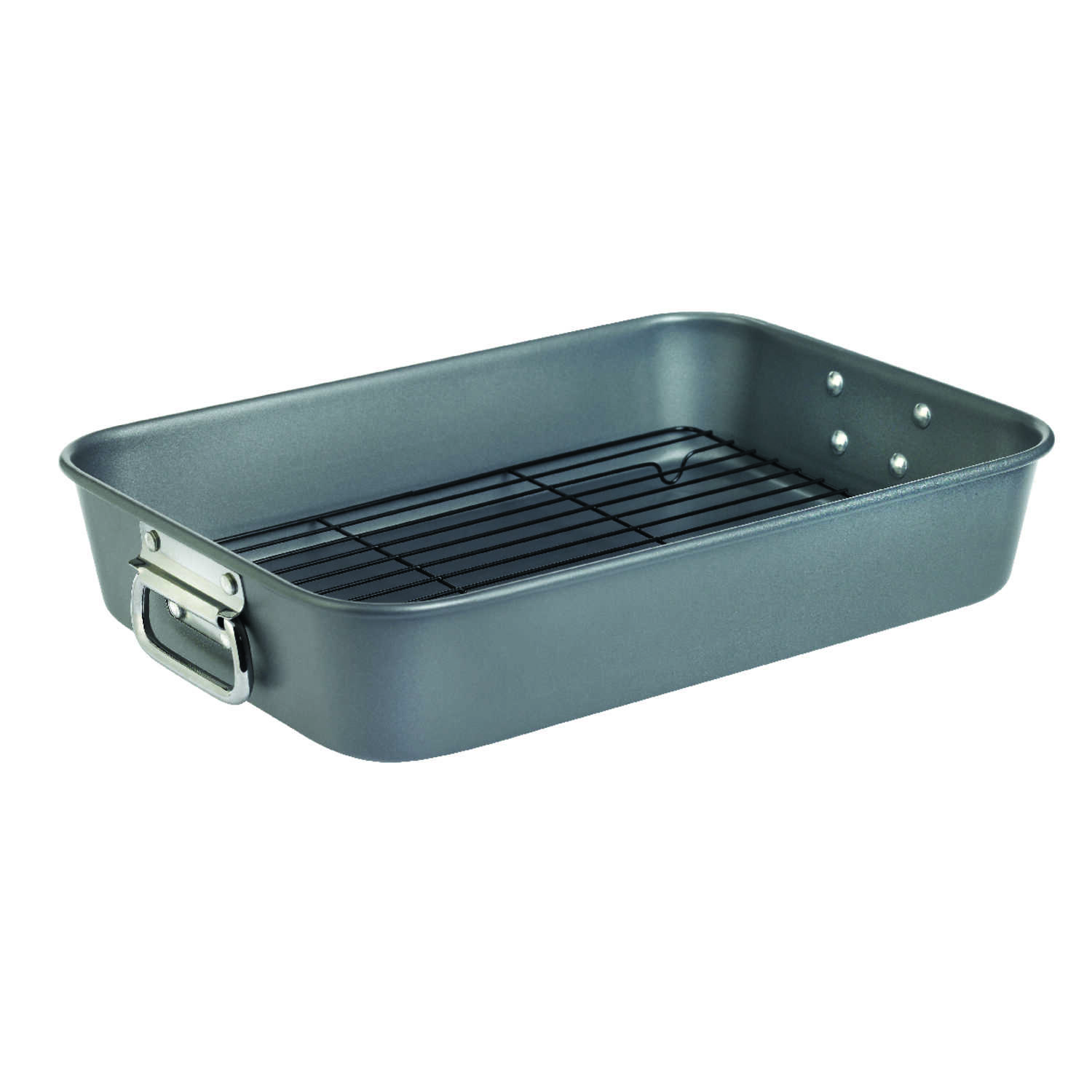 Wearever  Commercial  Aluminum  Roaster with Rack  2.9  Gray