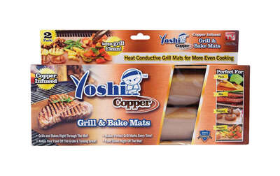 Yoshi As Seen On TV 13 in. W x 15-3/4 in. L Brown Polytetrafluoroethylene/Copper Grill/Bake Mat