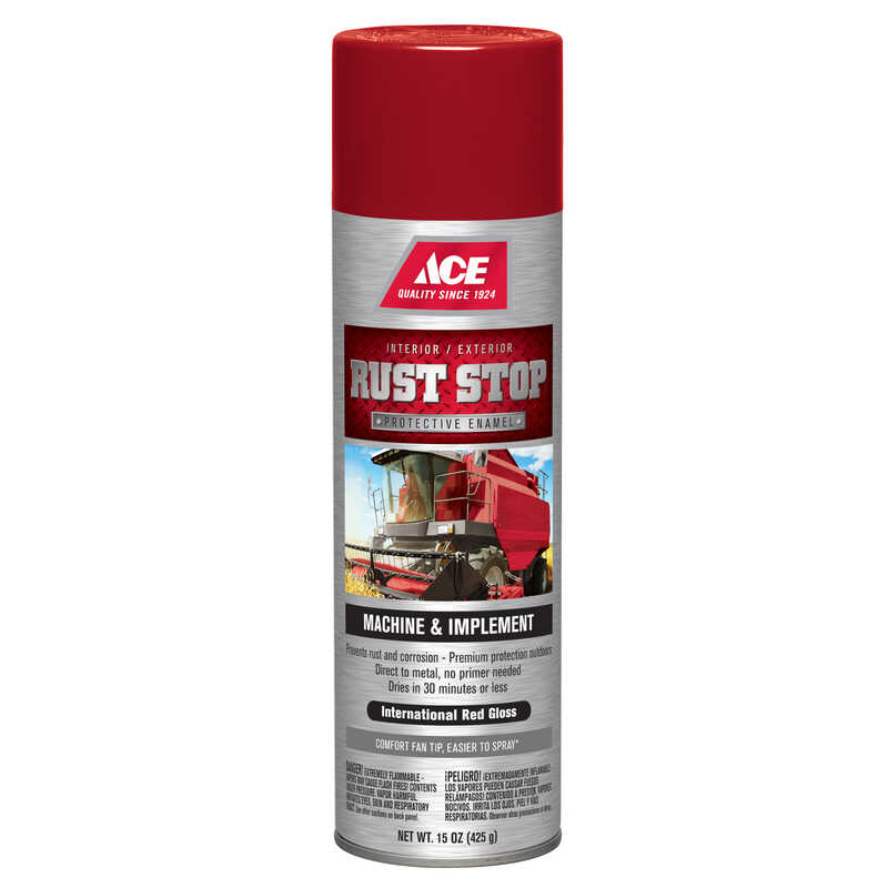 Ace  Rust Stop  Gloss  International Red  15 oz. Protective Enamel Spray