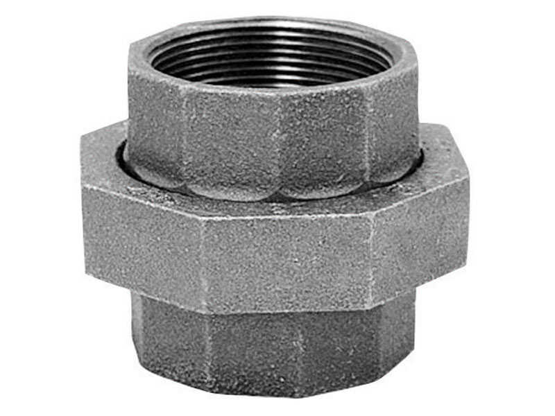 Anvil  3/8 in. FPT   x 3/8 in. Dia. FPT  Galvanized  Malleable Iron  Union