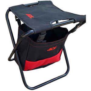 Ace  Oxford Fabric  Folding Garden Stool  Black/Red