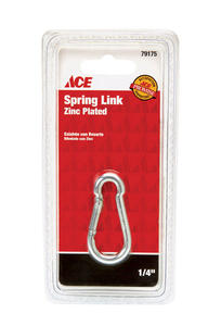 Ace  Zinc-Plated  Steel  Spring Snap  80 lb. 2-3/8 in. L