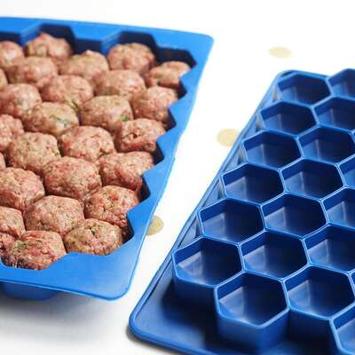Shape + Store  Meatball Master  9 in. W x 13 in. L Blue  Plastic  Meatball Master