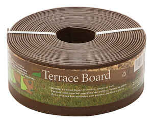 Master Mark  Terrace Board  40 ft. L x 4 in. H Plastic  Brown  Lawn Edging