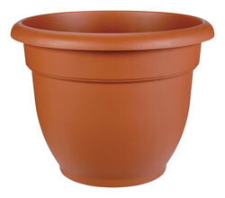 Bloem  12 in. Dia. Resin  Ariana  Planter  Terracotta Clay