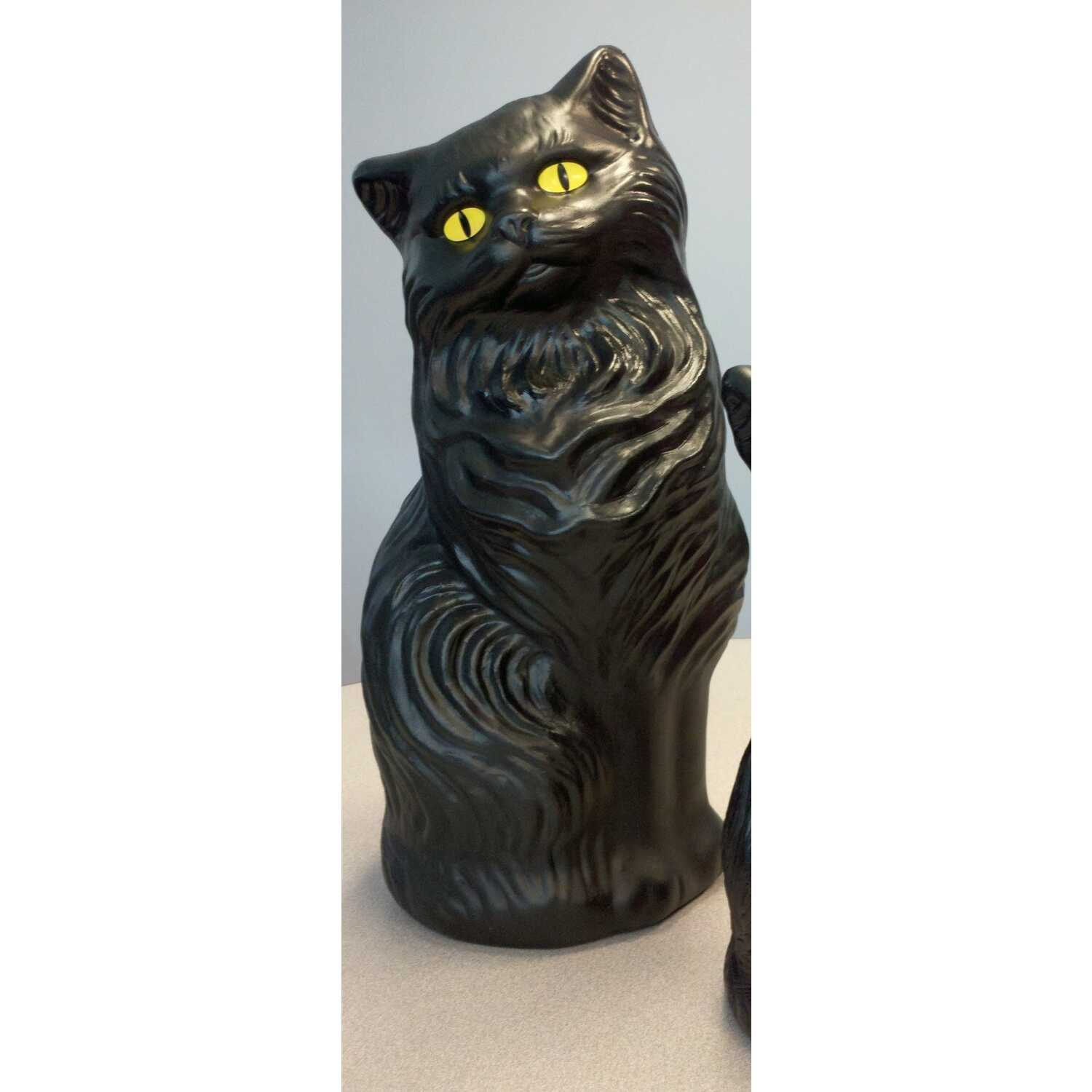 Union Products  Blow Mold Cat  Halloween Decoration  17 in. H x 7 in. W x 17 in. L 1 each
