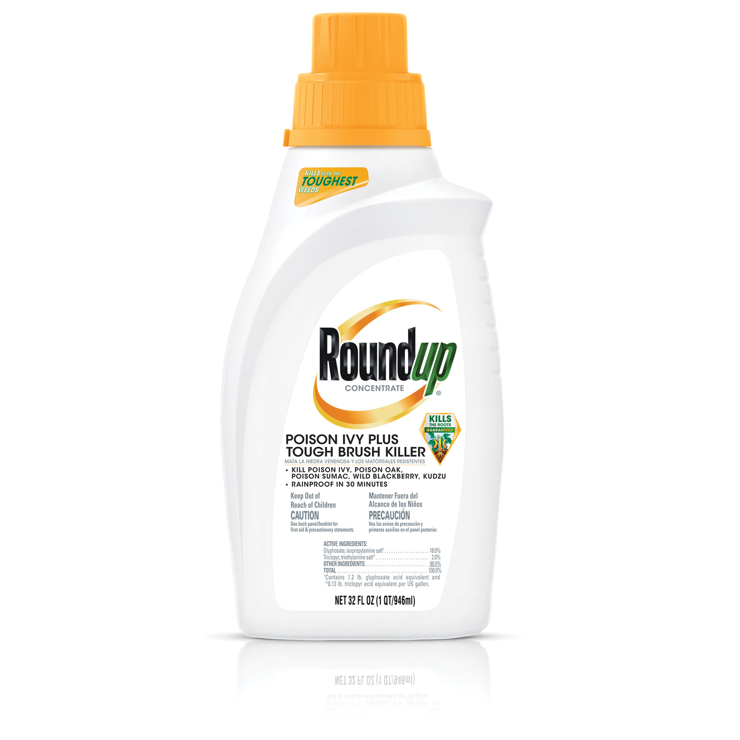 Roundup  Concentrate  Poison Ivy Plus Tough Brush Killer  32 oz.