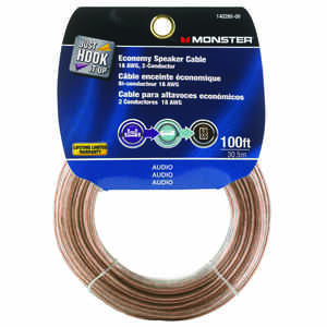 Monster Cable  Just Hook It Up  100 ft. L Speaker Cable  AWG