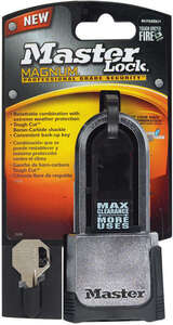 Master Lock  2-1/4 in. W x 1-1/2 in. H Dual Ball Bearing Locking  Padlock  1 each Steel