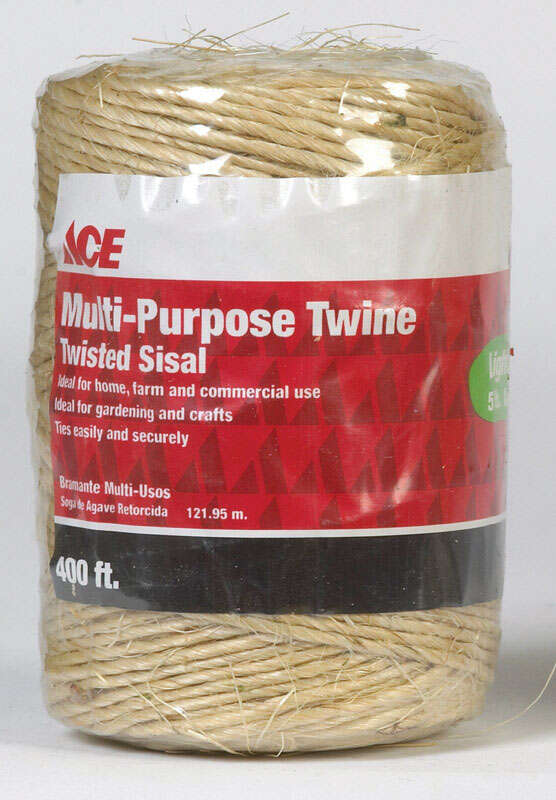 Ace  400 ft. L Brown  Twisted  Sisal  Twine