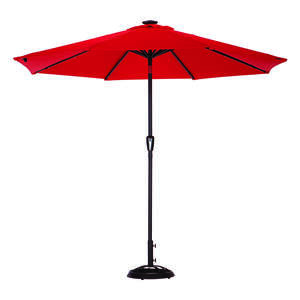 Living Accents  MARKET  9 ft. Tiltable Red  Patio Umbrella