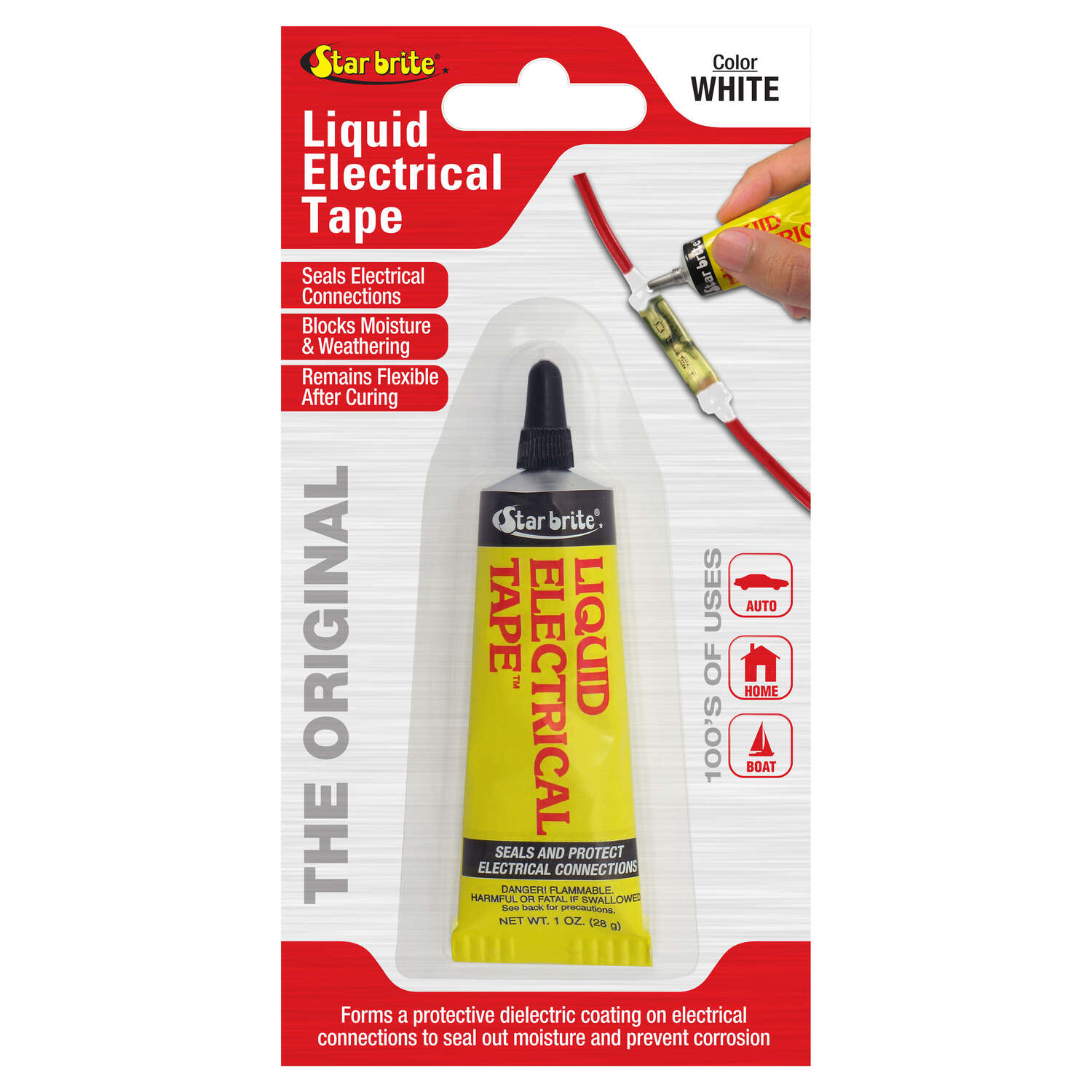 Star Brite 4 in. W x 7 in. L White Vinyl Liquid Electrical Tape