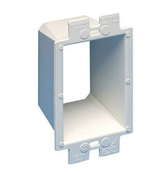 Arlington  2.3 in. Rectangle  Plastic  1 gang Box Extenders  White