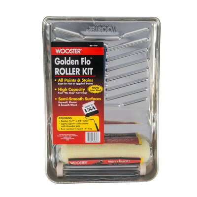 Wooster Golden Flo Cage Paint Roller Kit Threaded End