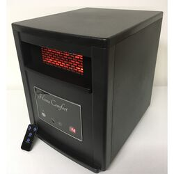 Home Comfort  1500 sq. ft. Electric  Infrared  Portable Heater with Remote  5200 BTU