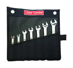 Craftsman  Metric  Wrench Set  Steel  7 pc.