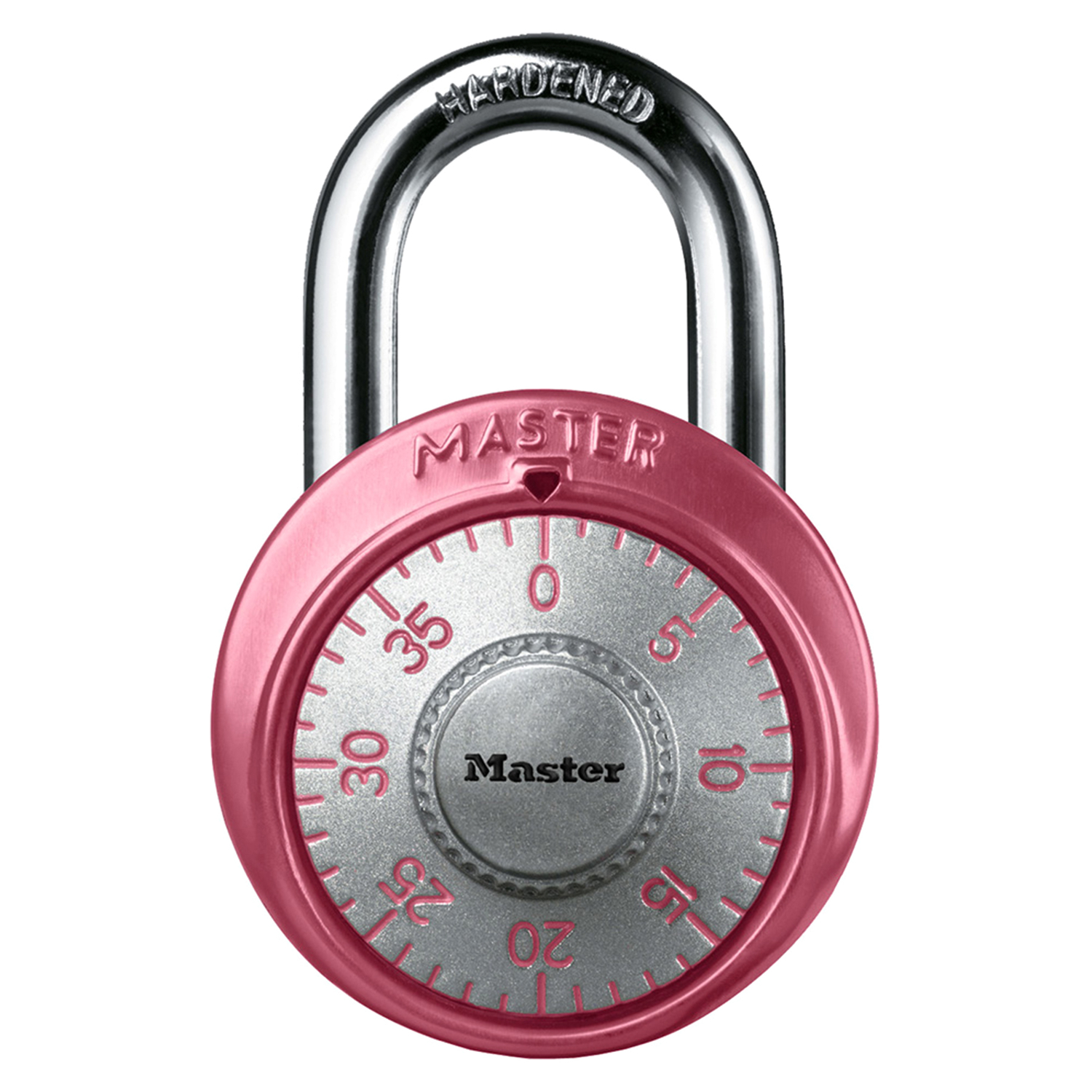 Master Lock  7/8 in. W x 2 in. H 3-Dial Combination  Steel  Combination Padlock  1 each