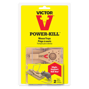 Victor  Power-Kill  Small  Snap  Animal Trap  For Mice 2 each