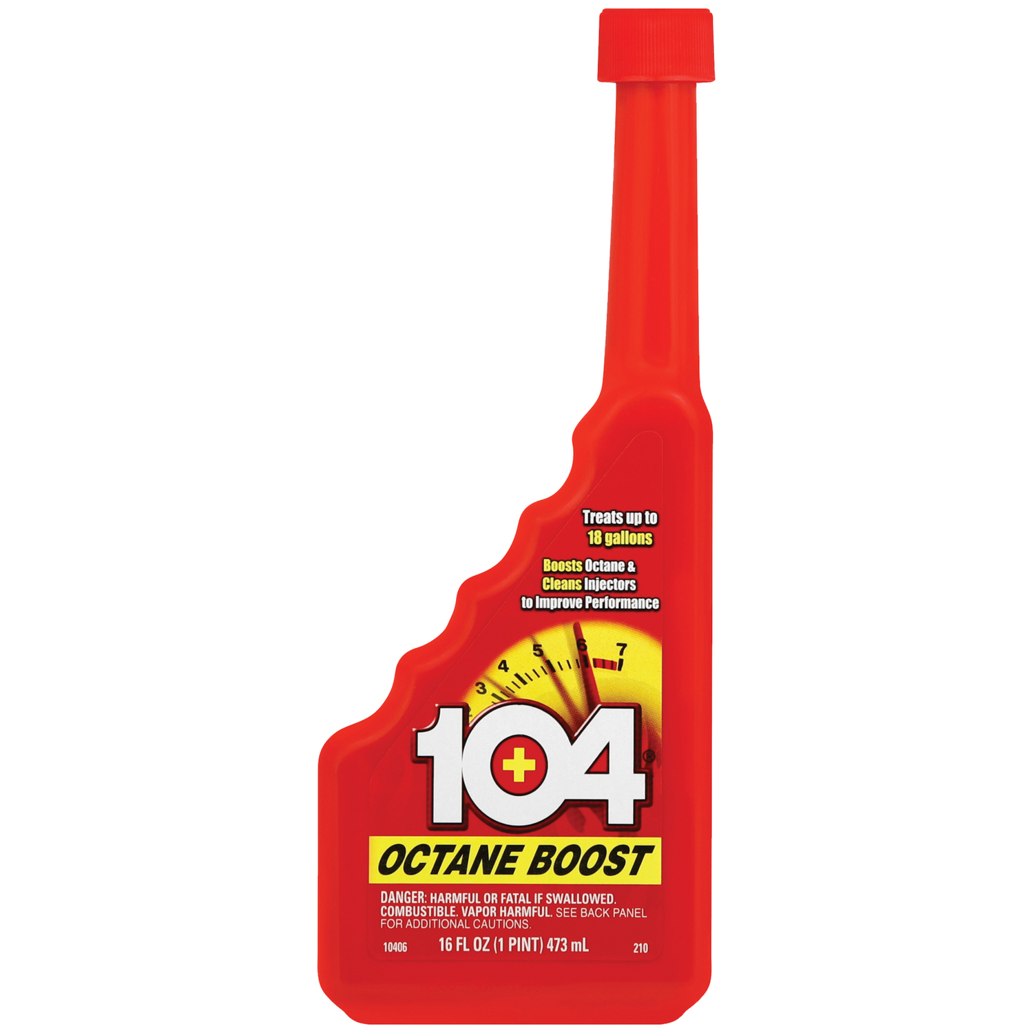 Gold Eagle 104+ is the original octane booster since 1975. 104+ Octane Boost improves power, acceleration, and gas mileage. 104+ also cleans fuel injectors and the complete fuel system. 104 is safe for all catalytic converters and oxygen sensors. (104 is intended for off road use only)