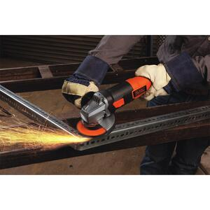 Black and Decker  Corded  6.5 are 4-1/2 in. Small Angle Grinder  Bare Tool  10000 rpm