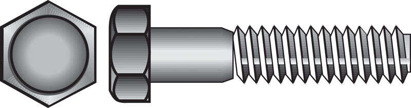 Hillman  5/16 in. Dia. x 2-1/2 in. L Hot Dipped Galvanized  Steel  Hex Bolt  100 pk
