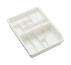 Madesmart  15 in. H x 3 in. L x 11 in. W White  Plastic  Drawer Organizer