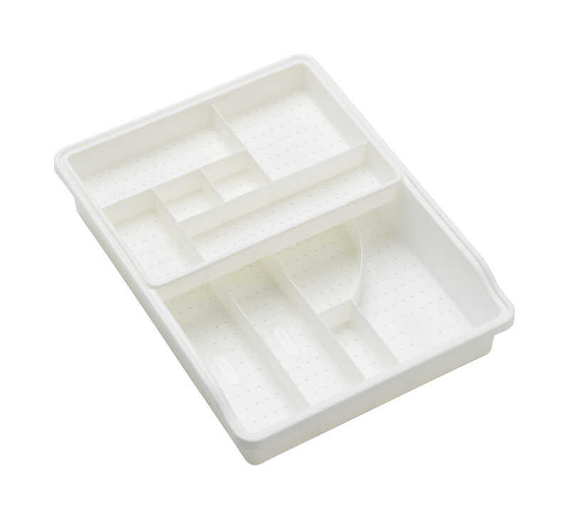 Madesmart  15 in. H x 11 in. W x 3 in. L White  Plastic  Drawer Organizer