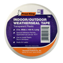 Frost King Clear Indoor and Outdoor Weatherseal Tape 2 in. W x 1200 in. L