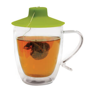 Primula  16 oz. Clear/White  Mug with Tea Bag Buddy