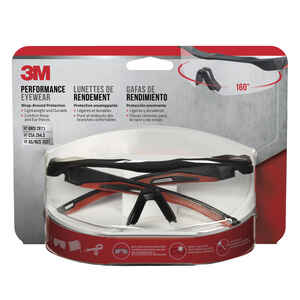 3M  Anti-Fog Safety Glasses  Clear Lens Black Frame 1 pc.