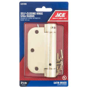 Ace  3.5 in. L Satin Brass  Brass  Residential Hinge  1 pk