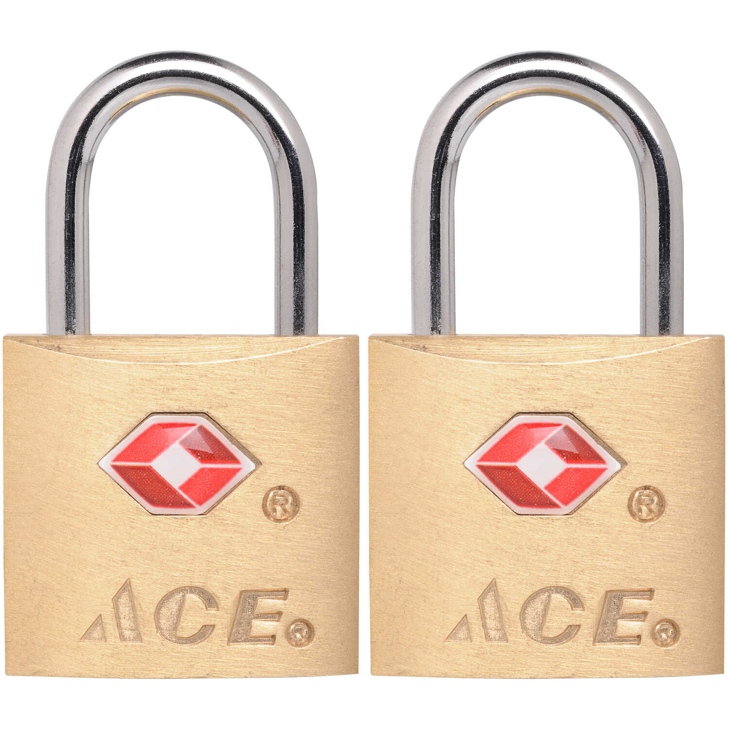 Ace  3/4 in. H x 7/8 in. W x 3/4 inch  L Brass  Single Locking  Luggage Lock  2 pk Keyed Alike