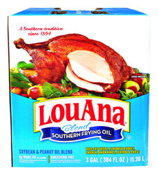 LouAna  Peanut  Frying Oil  3 gal. Boxed