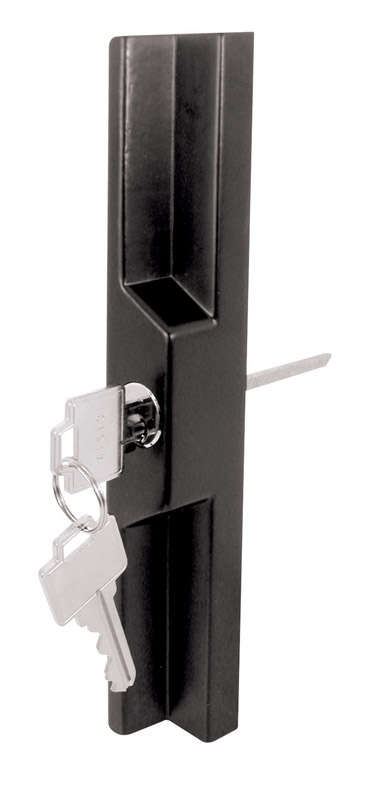 Prime-Line  Metal  Indoor and Outdoor  Pull and Keyed Locking Unit