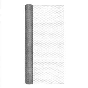 Garden Zone  48 in. H x 50 ft. L 20 Ga. Silver  Poultry Netting