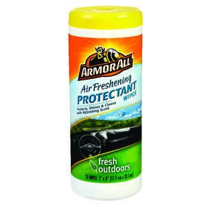 Armor All  Fresh Outdoors  Plastic/Rubber  Air Freshening Protectant Wipes  25 wipes Canister